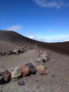 The path to the summit of Mauna Kea