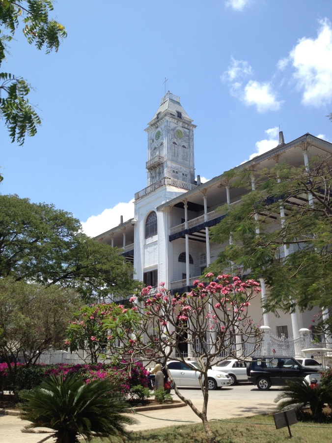 The House of Wonders, or the tallest building in Stone Town and the first to have electricity.