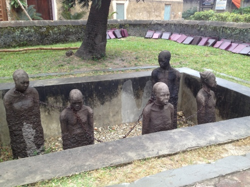 The Slave Memorial at the Anglican Church, which was built on the site of Zanzibar's slave market.