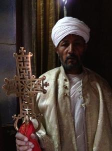 An Orthodox priest.