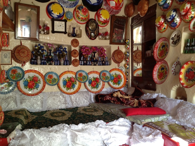 The main room of a traditional Harari house.